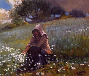 Winslow_Homer_-_Girl_and_Daisies_(1878)