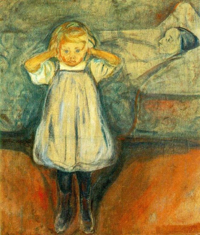 Edvard_Munch_-_Death_and_the_Child_(1899),_Kunsthalle_Bremen